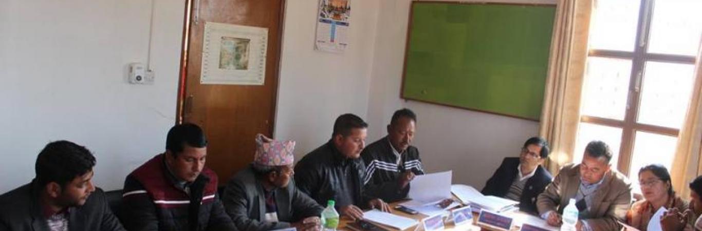 दशौँ कार्यपालिका बैठक संचालन हुदै (२०७४/१०/५)